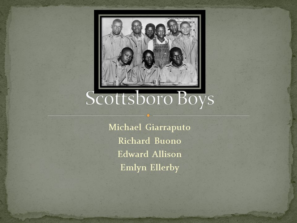 The Scottsboro Boys were nine African American teenagers.