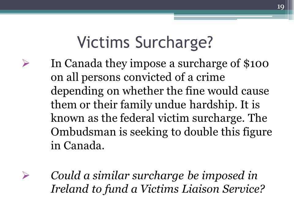 Victims Surcharge.