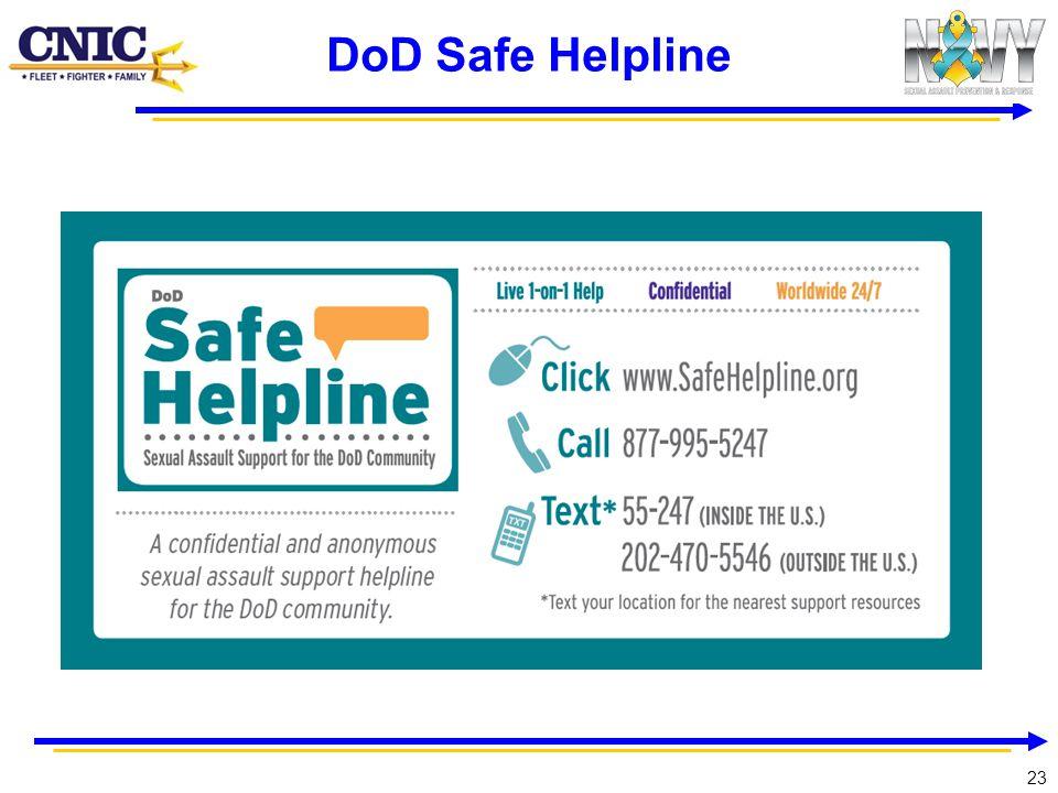 23 DoD Safe Helpline