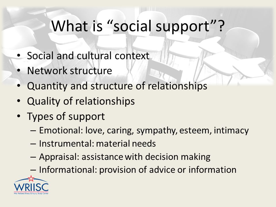 What is social support .