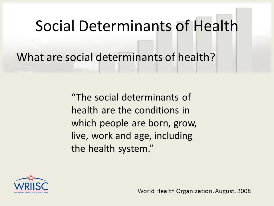 Social Determinants of Health What are social determinants of health.