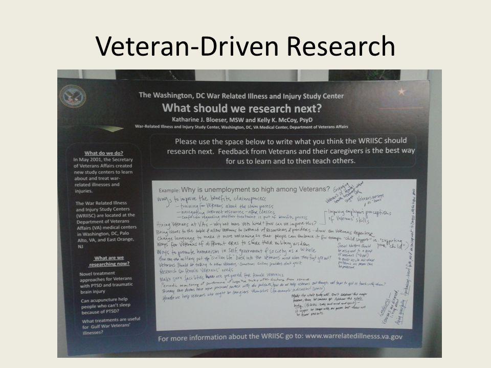 Veteran-Driven Research
