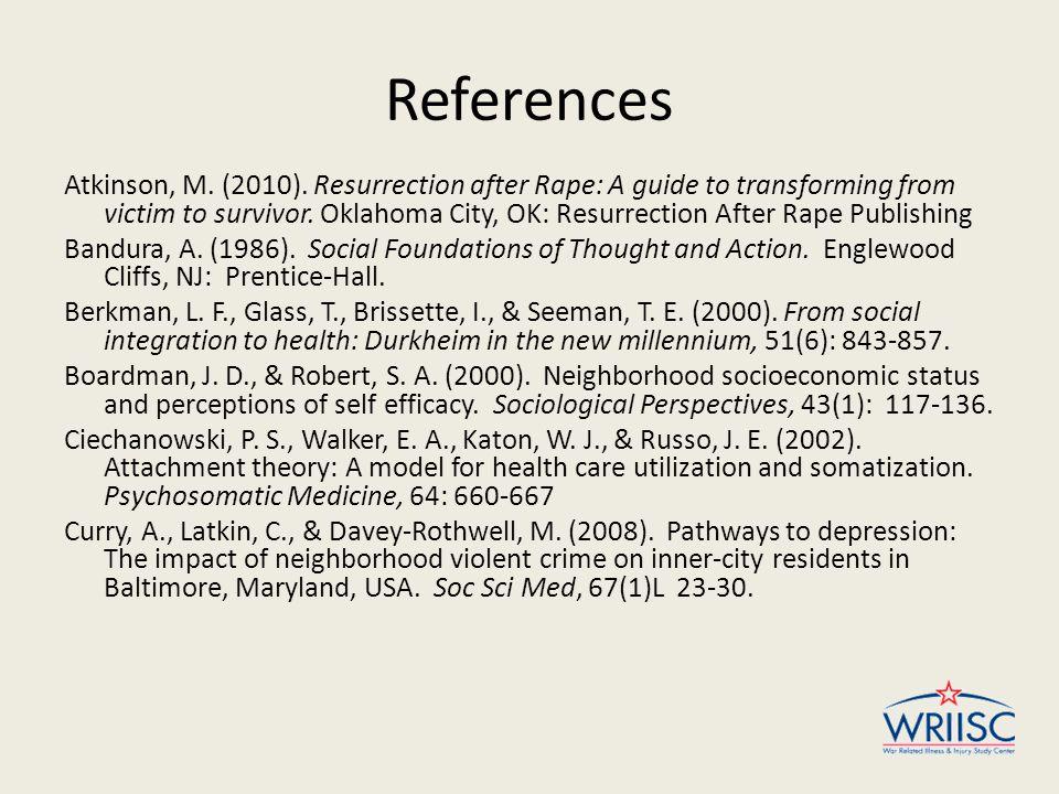 References Atkinson, M.(2010).