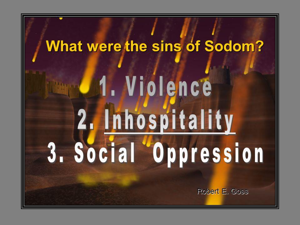 What were the sins of Sodom? Robert E. Goss
