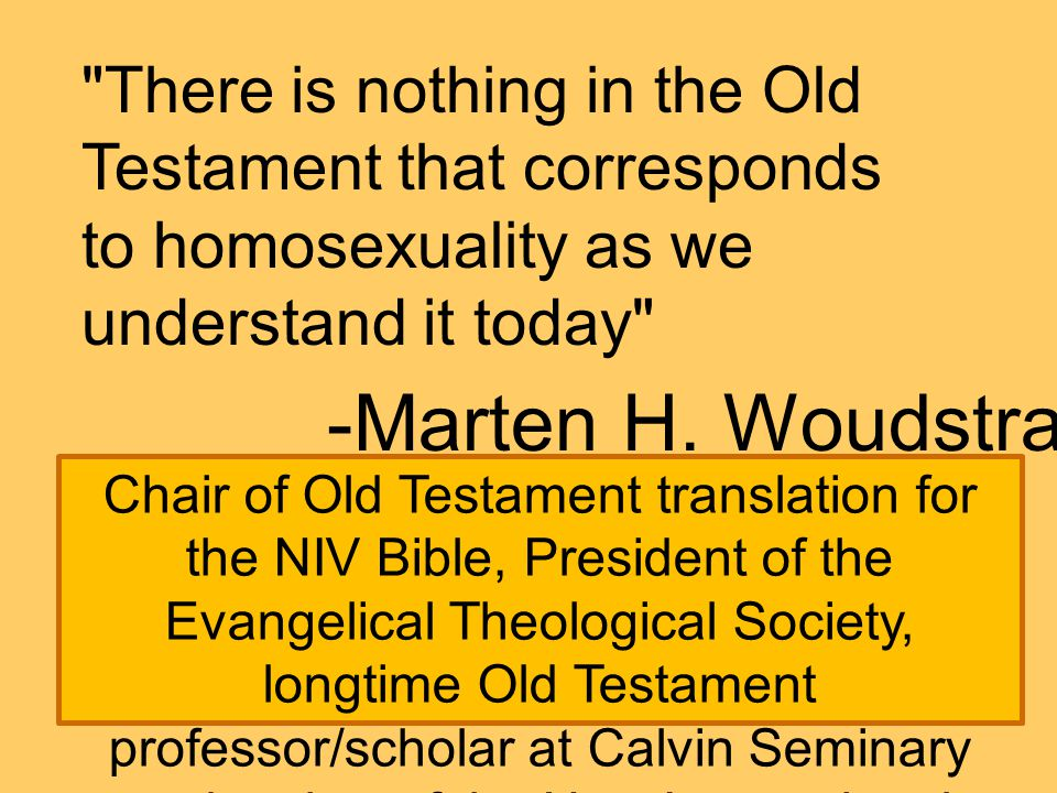 Chair of Old Testament translation for the NIV Bible, President of the Evangelical Theological Society, longtime Old Testament professor/scholar at Ca