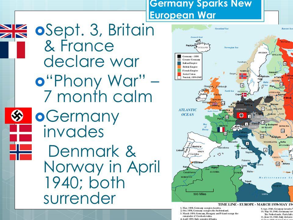  Blitzkrieg (lightening War ) invasion of Poland – Sept. 1, 1939. Germany Sparks New European War