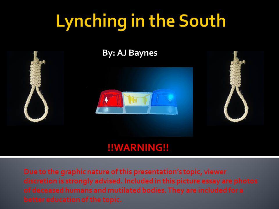 By: AJ Baynes !!WARNING!.