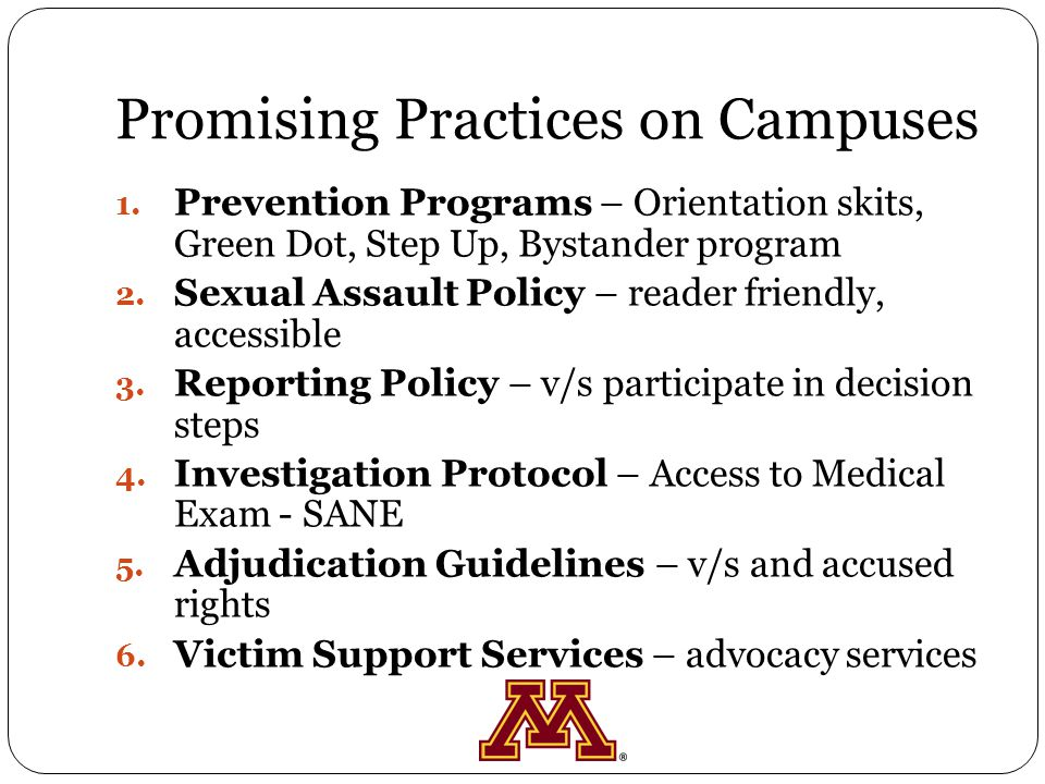 Promising Practices on Campuses 1.