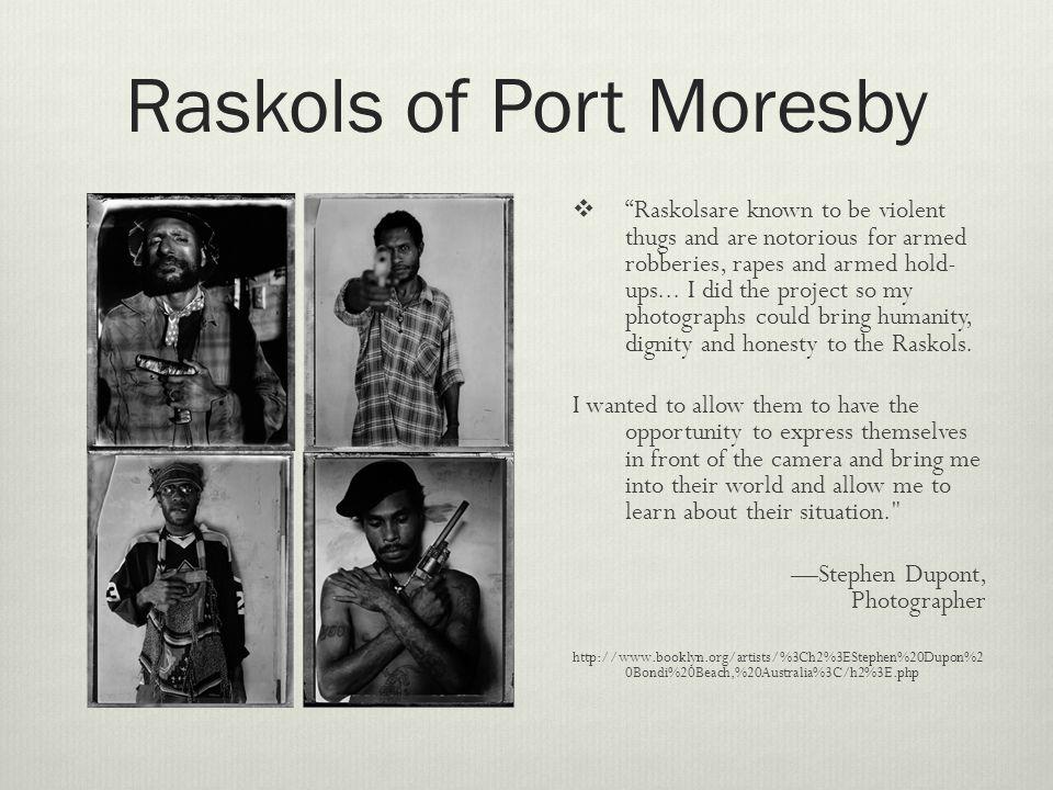 Raskol camp Outside Port Moresby, Papua New Guinea