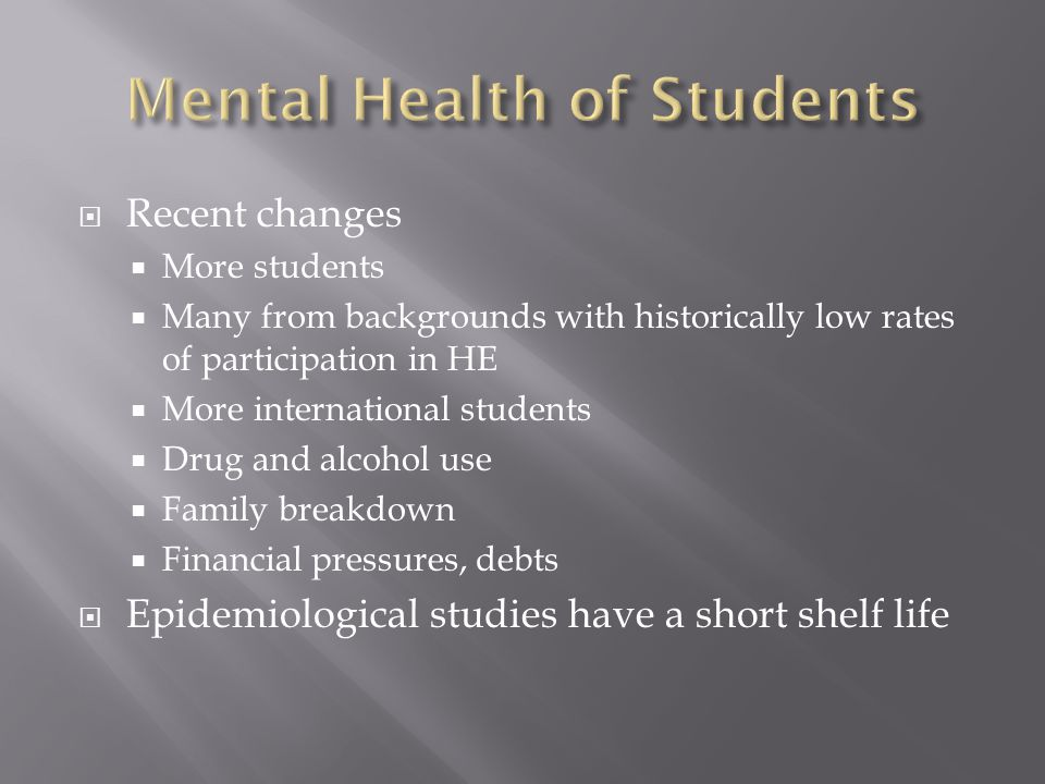  International students may be more vulnerable to mental health problems than UK-born students.