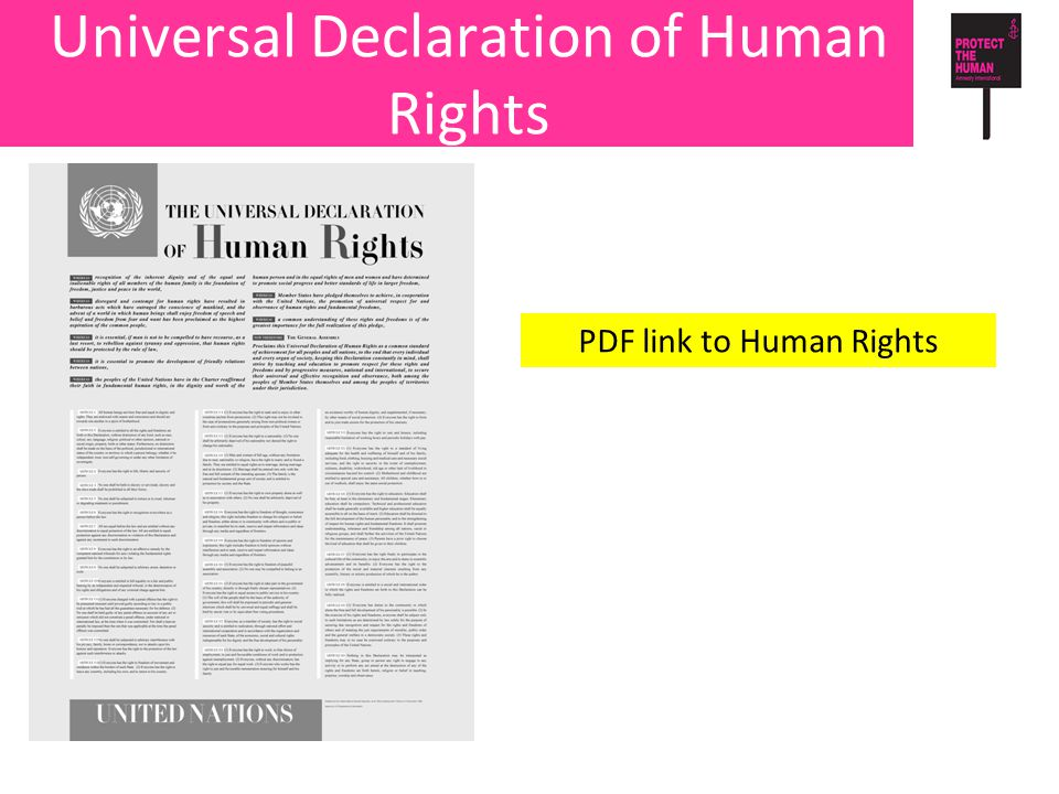 Universal Declaration of Human Rights PDF link to Human Rights