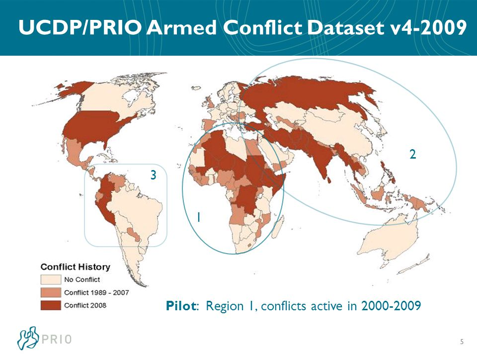 UCDP/PRIO Armed Conflict Dataset v4-2009 5 1 2 3 Pilot: Region 1, conflicts active in 2000-2009
