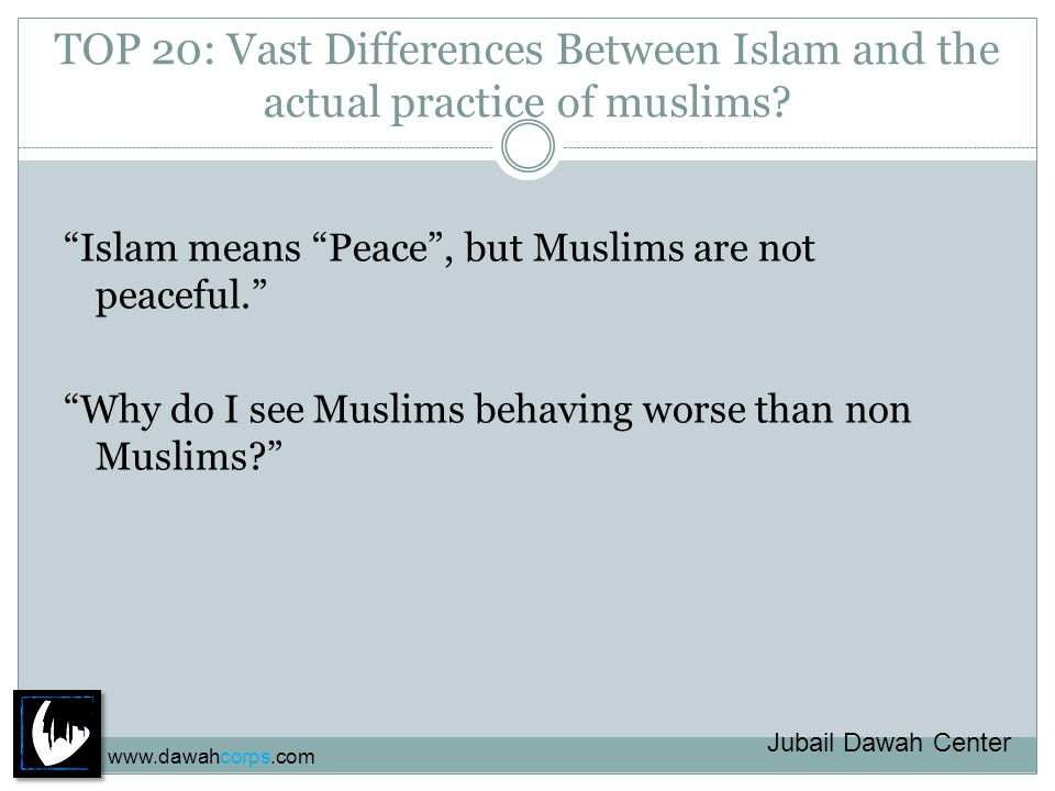 TOP 20: Vast Differences Between Islam and the actual practice of Muslims.