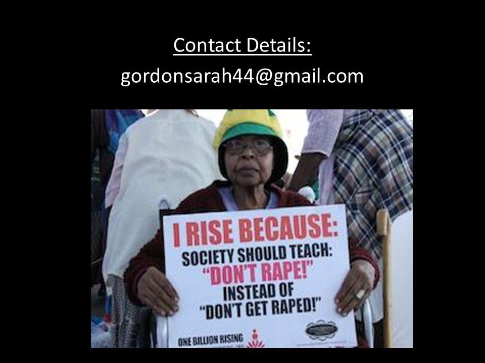 Contact Details: gordonsarah44@gmail.com