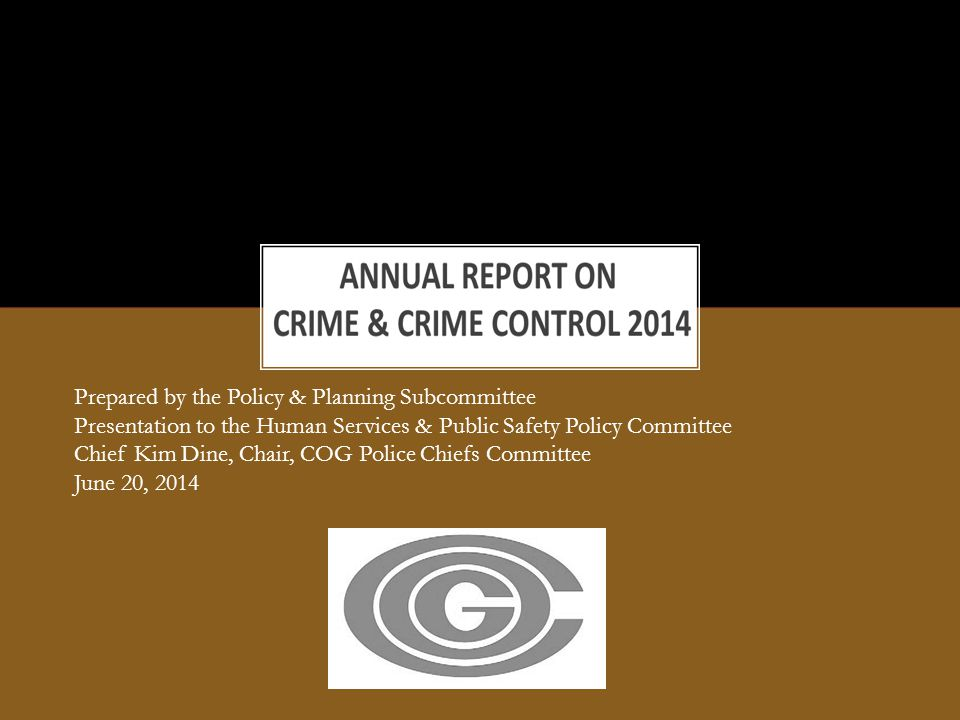 Total Part I Crime decreased 2.6% from 2012 to 2013 (129,666 v.