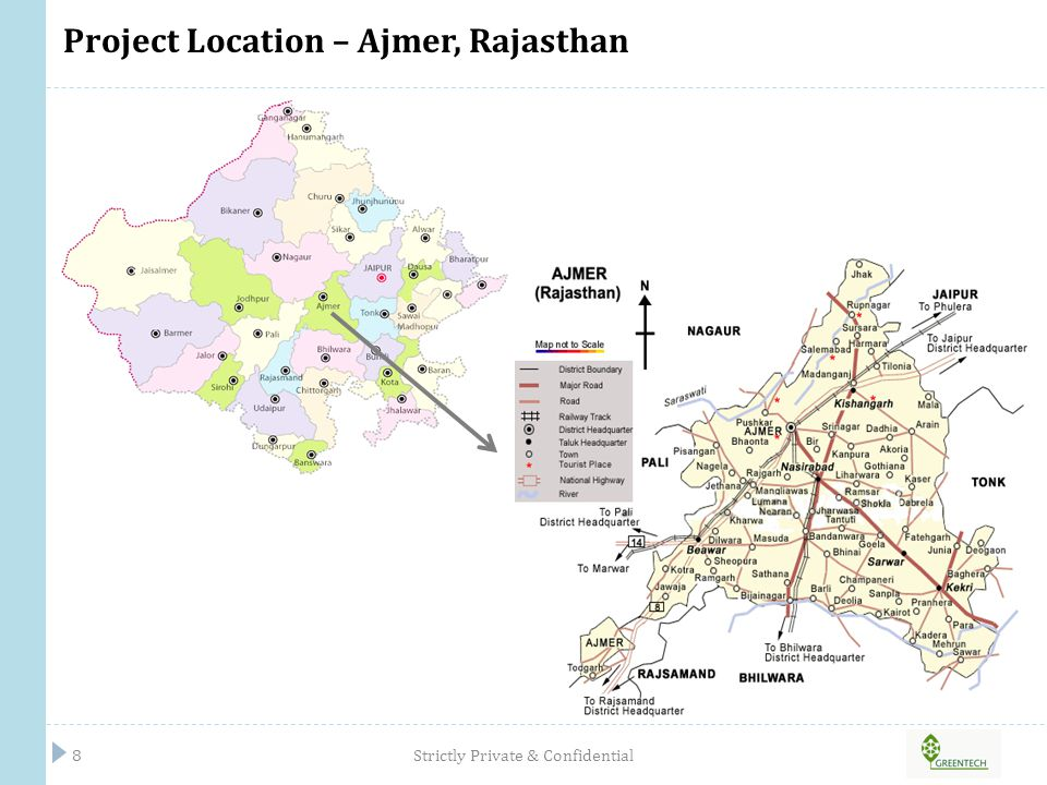 LOCATION CONNECTIVITY AND ADVANTAGES Strictly Private & Confidential9 Location Advantages Availability of varied raw material produce Excellent connectivity through road and rail as well as proximity to DMIC (Delhi Mumbai Industrial Corridor) and the Dedicated Western Freight Corridor Proximity to large and ever growing consumption markets- NCR, Jaipur, Udaipur, Jodhpur, Ajmer, Bikaner etc Zone well developed in terms of physical infrastructure requirements Location Connectivity Project is spread across 75.74 acres Located in Rupangarh village of Kishangarh Block, District Ajmer, Rajasthan.
