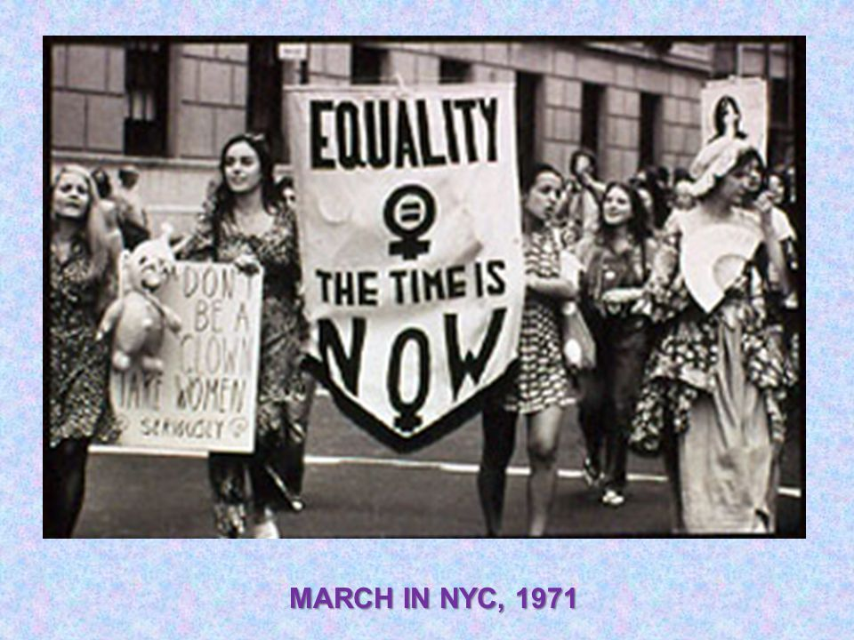 MARCH IN NYC, 1971
