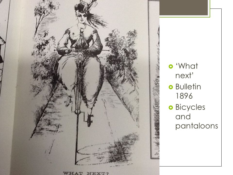  'What next'  Bulletin 1896  Bicycles and pantaloons