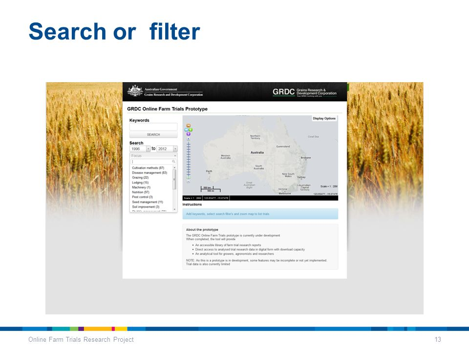 Search or filter Online Farm Trials Research Project13