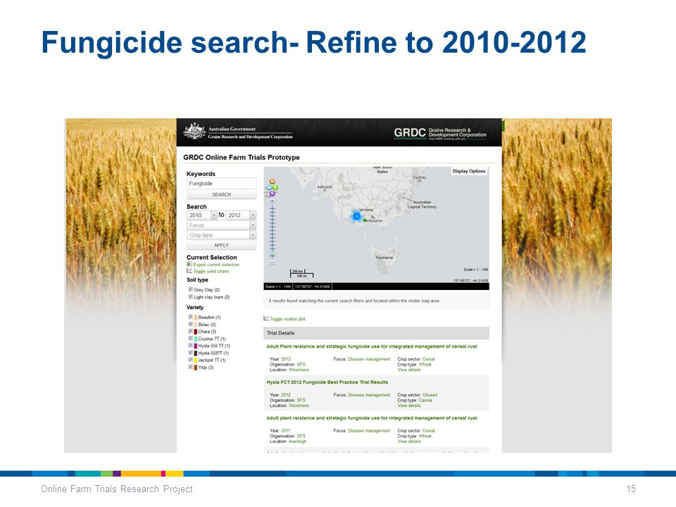 Fungicide search- Refine to 2010-2012 Online Farm Trials Research Project15