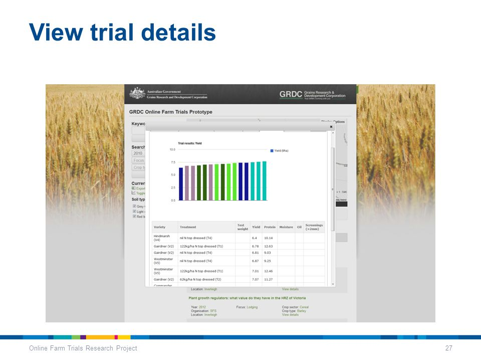 View trial details Online Farm Trials Research Project27