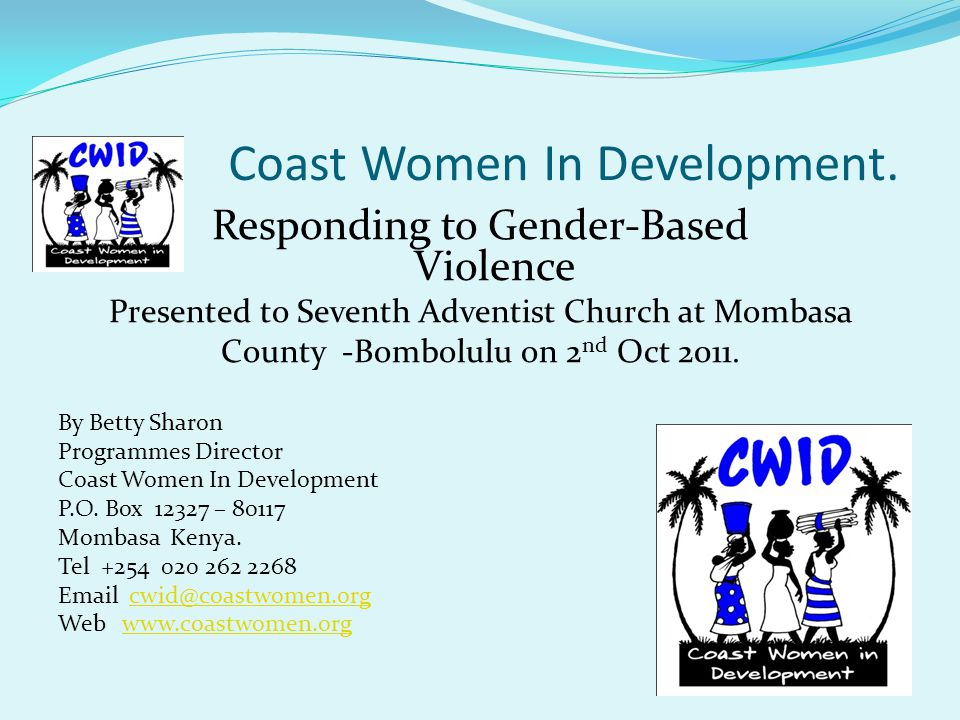 Coast Women In Development.