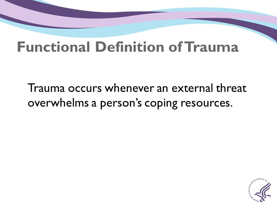 Substance Abuse Mental Health Services Administration (SAMHSA) SAMHSA s National Center for Trauma- Informed Care provides technical assistance to build awareness and promote implementation of trauma-informed practices.