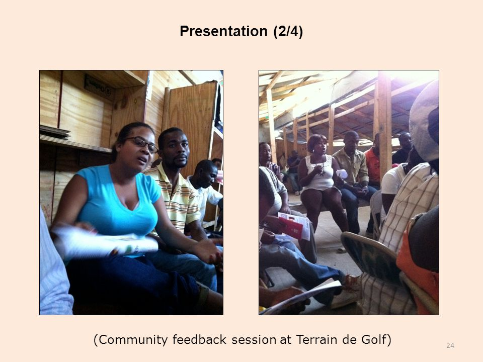 Presentation (2/4) (Community feedback session at Terrain de Golf) 24