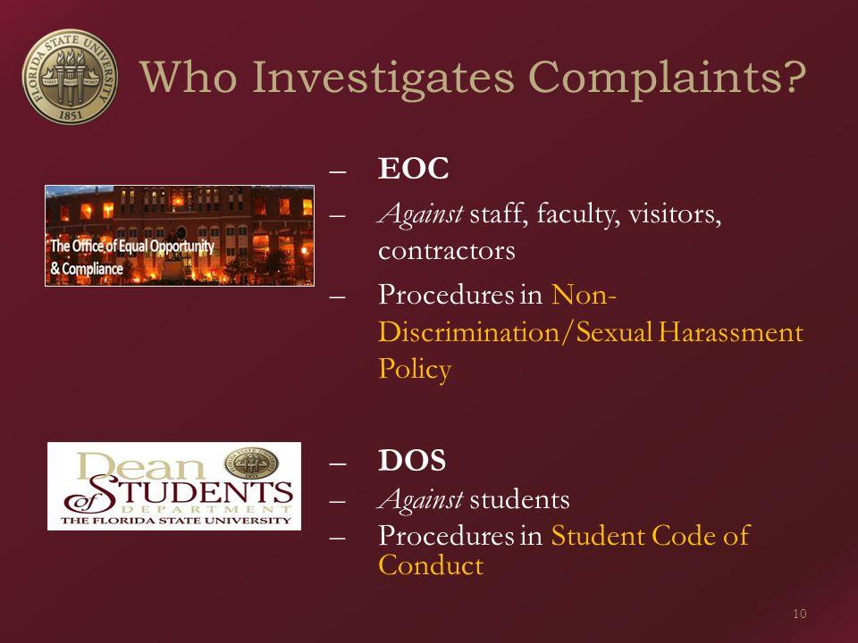 Who Investigates Complaints.