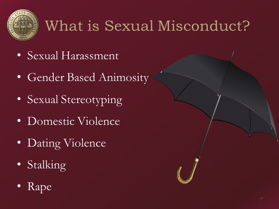 What is Sexual Misconduct.