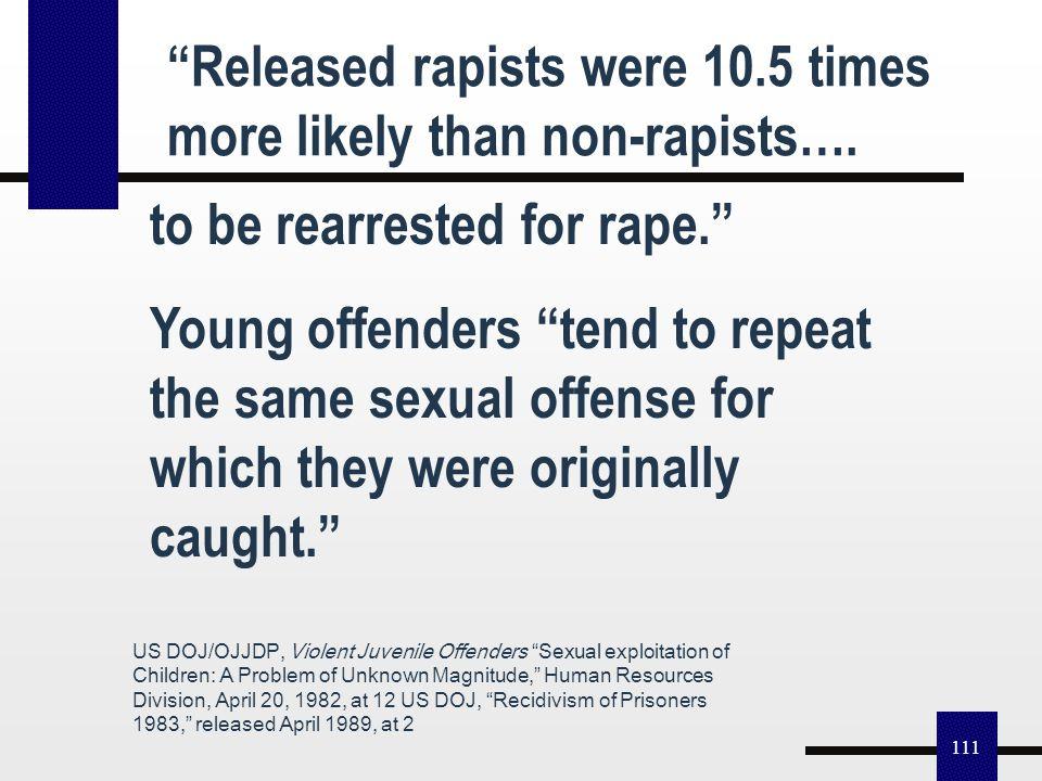 """110 1999: Results of """"Low Recidivism"""" Pedophile/Rape Myth For Children A Boston Herald Investigation finds convicted Massachusetts Child Predators """"Wa"""