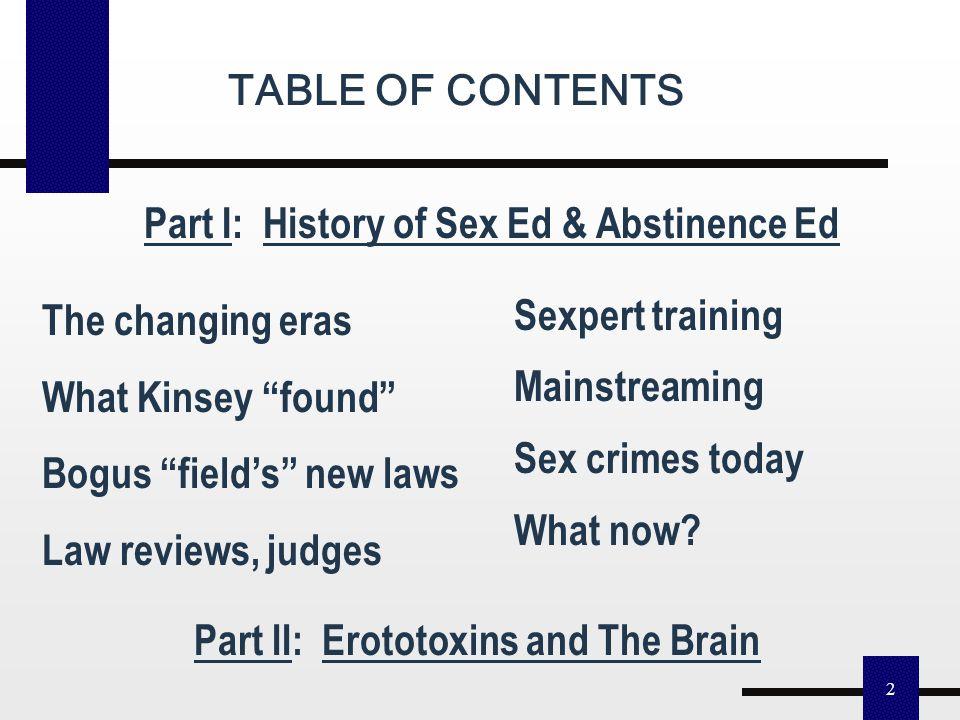 "1 Judith Gelernter Reisman, Ph.D. Liberty Center for Child Protection drjudithreisman.com Comprehensive Sex Ed & Abstinence Ed. A History: How a ""Sex"