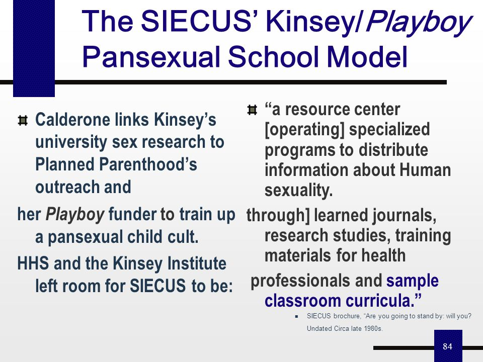 """83 The Kinsey Institute Left """"Sex Education"""" for SIECUS to fill... """" Few people realize that the great library collection of...the Kinsey Institute..."""