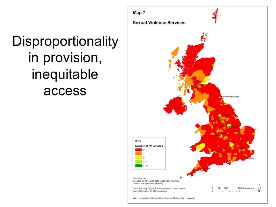 Disproportionality in provision, inequitable access