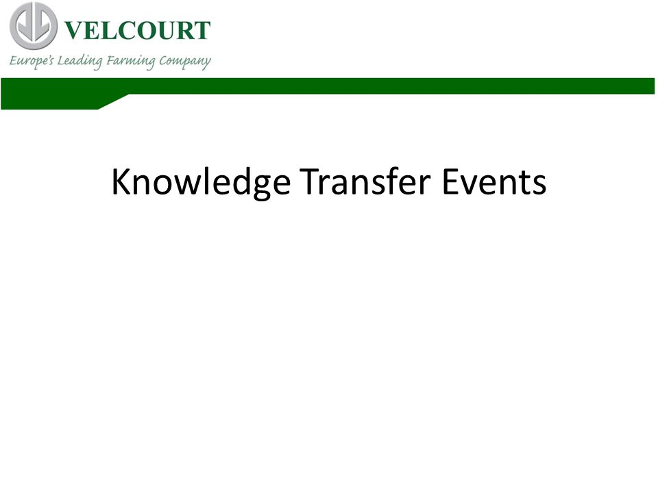 Knowledge Transfer Events