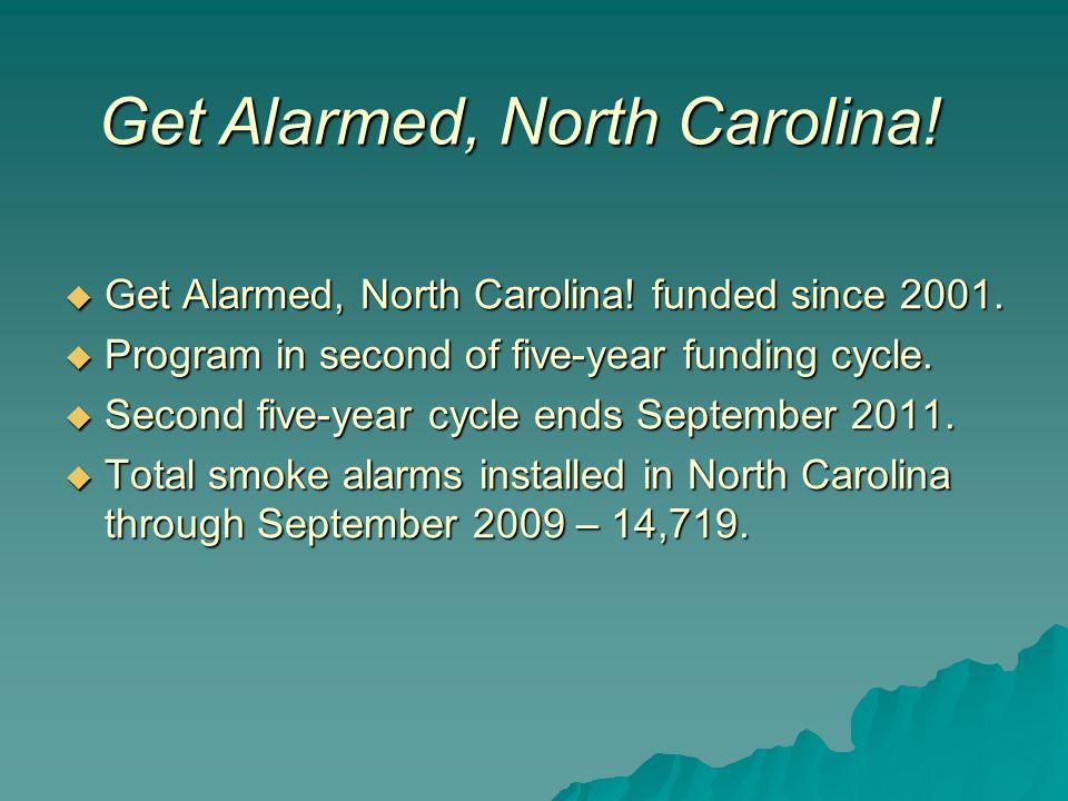  Get Alarmed, North Carolina. funded since 2001.
