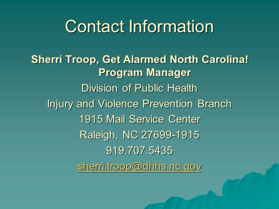 Sherri Troop, Get Alarmed North Carolina.