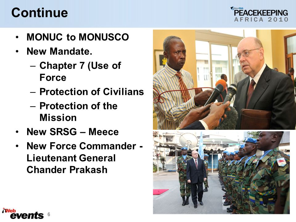 Continue MONUC to MONUSCO New Mandate.