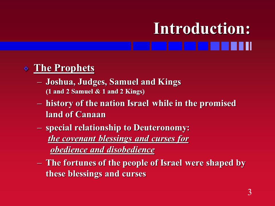  12 judges  6 described in varying detail: Othniel, Ehud, Deborah, Gideon, Jephthah, Samson  6 described in brief notations Shamgar, Tola, Jair, Ibzan, Elon, Abdon