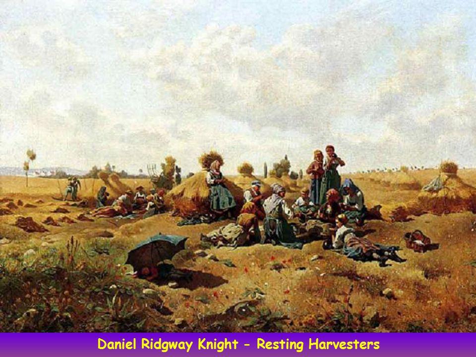 Daniel Ridgway Knight - Resting Harvesters