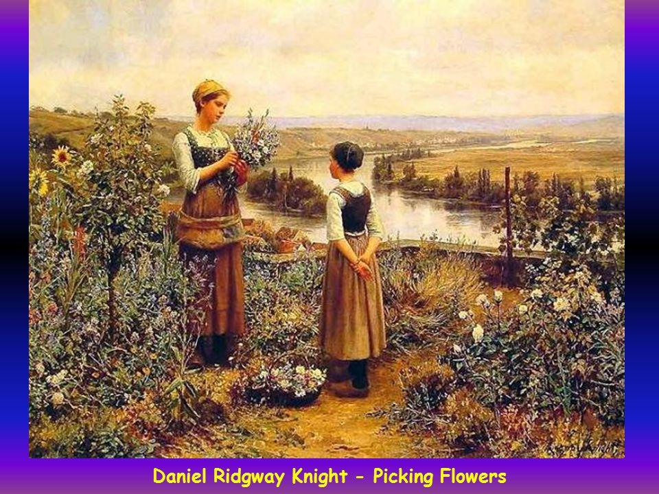 Daniel Ridgway Knight - Picking Flowers
