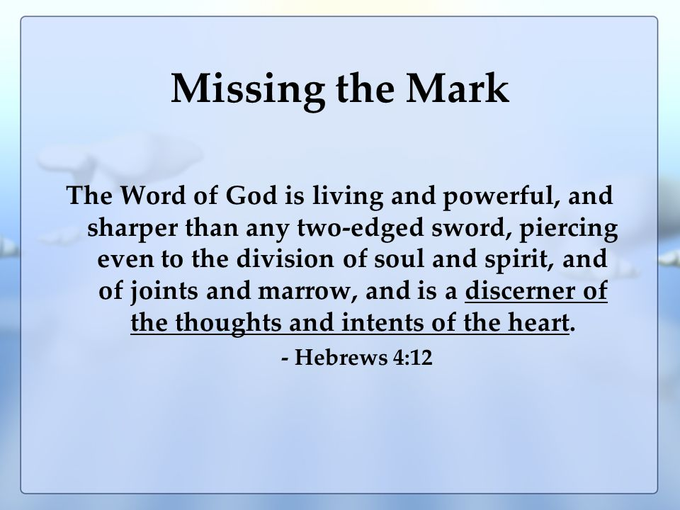 GOD (The Mark) What GOD Said What man thinks What man does What man does Habitually What man does That is Unacceptable