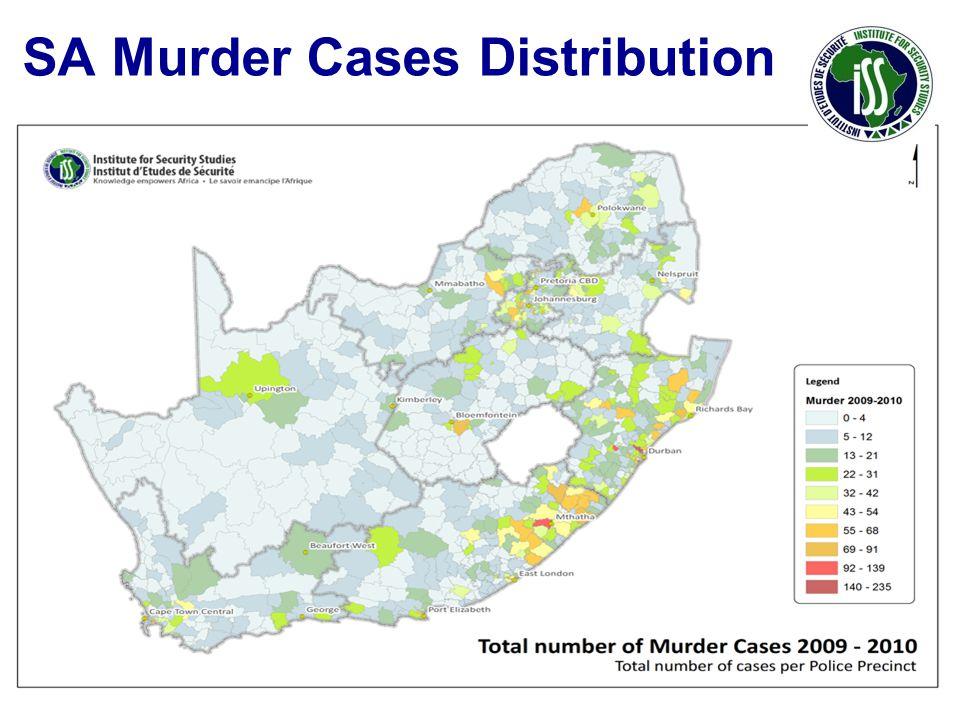 SA Murder Cases Distribution