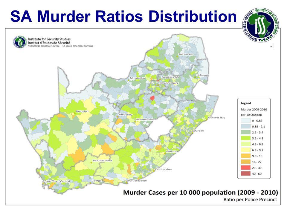 SA Murder Ratios Distribution