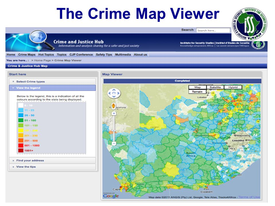 The Crime Map Viewer 13 www.issafrica.org