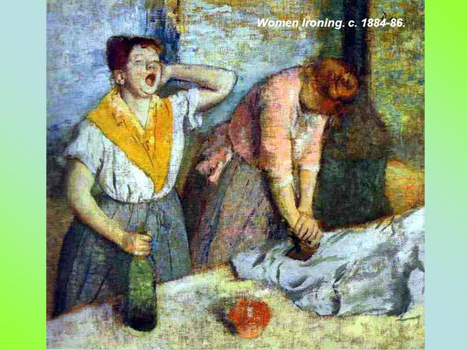 Woman Ironing. 1882