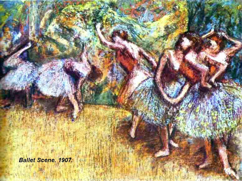 Two Dancers.(D eux danseuse). c. 1898-99. Pastel