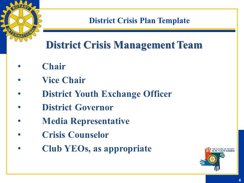 District Crisis Plan Template Inbound Crisis Procedure Summary Procedure Summary 7
