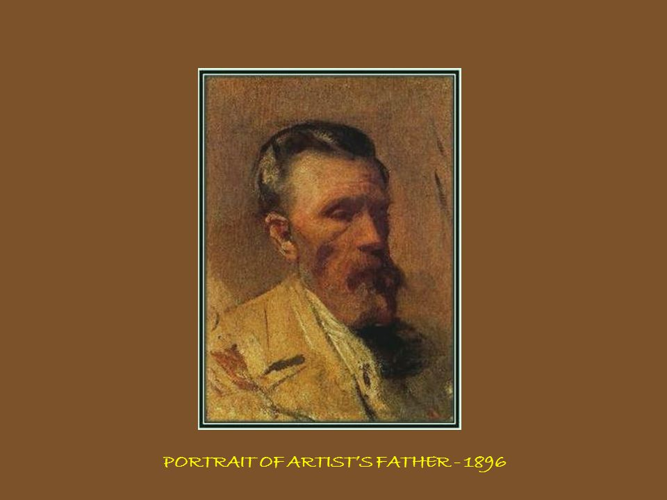 PORTRAIT OF ARTIST'S FATHER - 1896