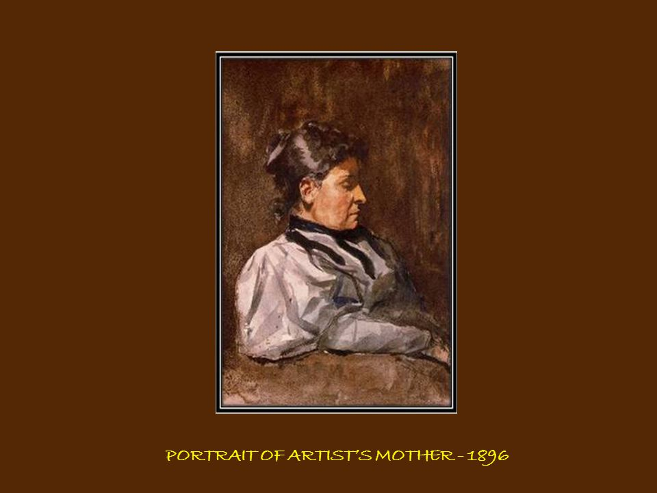 WOMAN PLAITING HER HAIR - 1906